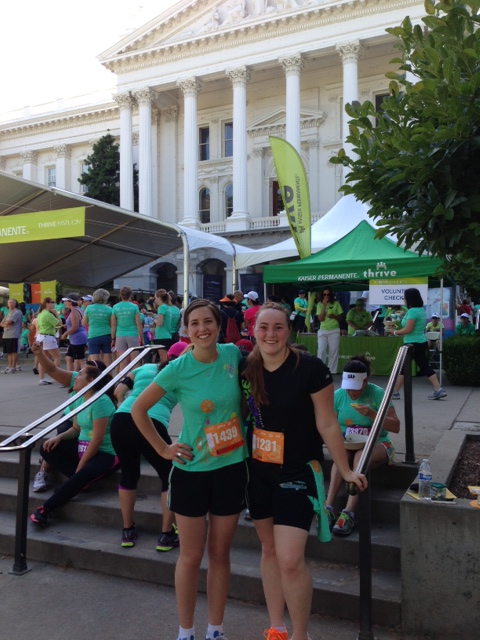 Amy and Reianna at the Women's Fitness Festival in Sacramento, CA